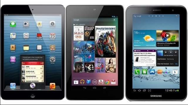 Google Nexus 7 vs Samsung Galaxy Tab 2 vs Apple iPad mini