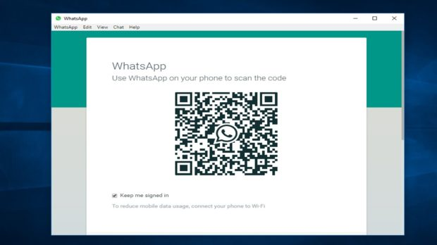 WhatsApp desktop client start
