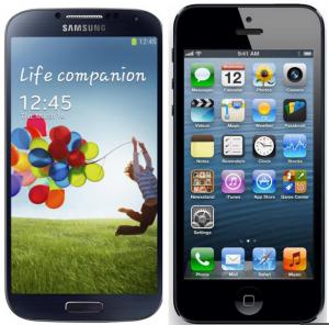 Samsung S IV vs iPhone 5