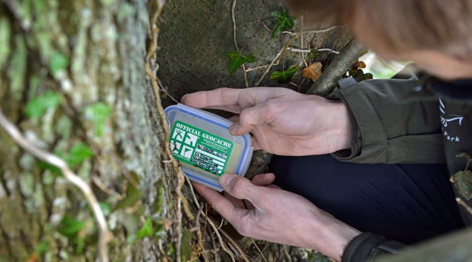 Geocaching combines technology with outdoor adventure game