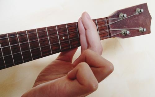 Guitar chords to ukulele chords: Barre Chords