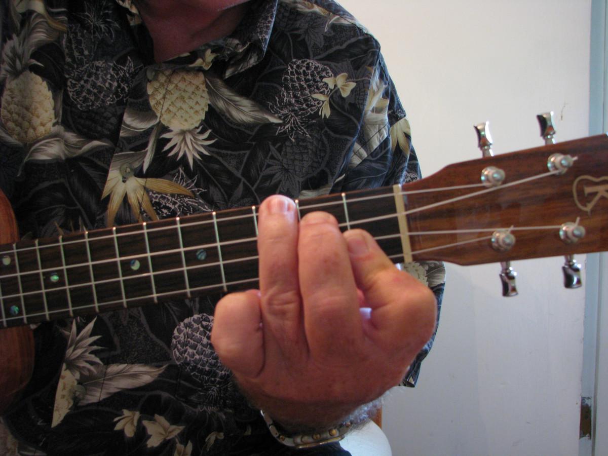a flat ukulele