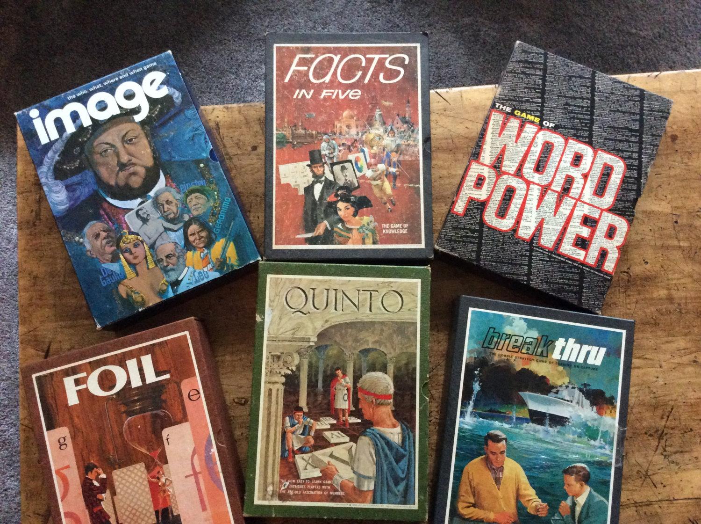 Vintage bookshelf games